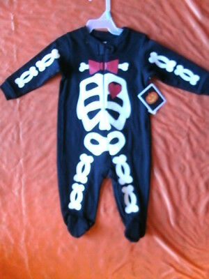 CHILD COSTUME SLEEPER *SKELETON* infant 3-6 months NEW WITH PACKAGING