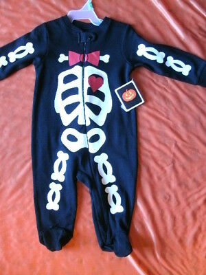 CHILD COSTUME SLEEPER *SKELETON* infant 6-9 months NEW WITH PACKAGING
