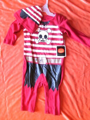 CHILD COSTUME TWO PIECE OUTFIT *PIRATE* infant 3-6 months NEW WITH PACKAGING