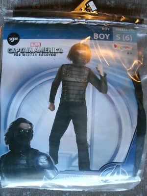 CHILD MARVEL COSTUME *WINTER SOLDIER* boy small 6 NEW WITH PACKAGING