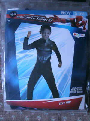 SPIDERMAN COSTUME *ELECTRO* boy small 6 NEW WITH PACKAGING