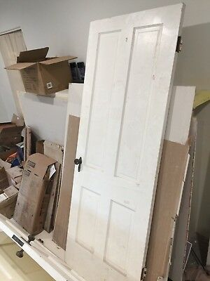 Vintage Solid Wood 4 Panel Original Door Interior $165