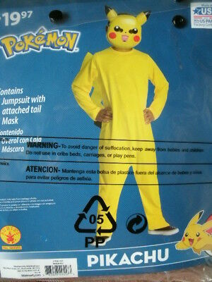 POKEMON COSTUME *PIKACHU* boy large 10-12 NEW WITH PACKAGING