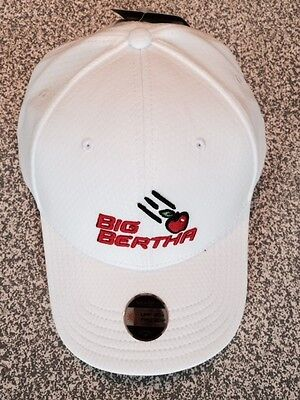 CALLAWAY GOLF BIG BERTHA  ADJUSTABLE TOUR CAP  Colour WHITE NEW