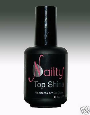 "Gel de finition sans résidu ultra brillant ""Top Shine""  pour UV et LED Naility"