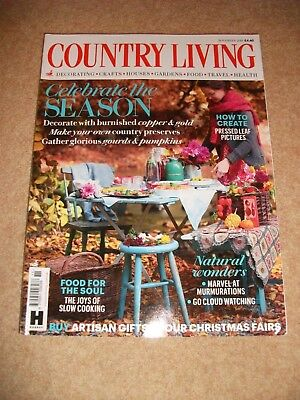 Country Living Magazine November 2018 Very Good Condition