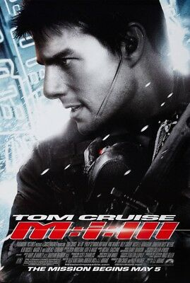 MISSION IMPOSSIBLE 3 III MOVIE POSTER 2 Sided ORIGINAL FINAL 27x40 TOM CRUISE