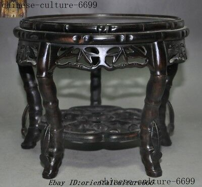 Antiques old Chinese dynasty Redwood wood hand carved chair stool
