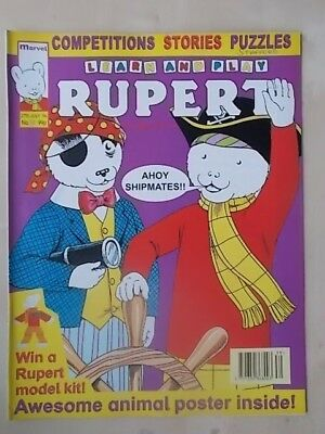 LEARN AND PLAY RUPERT THE BEAR - MARVEL COMIC No 10 - JULY 27th 1994