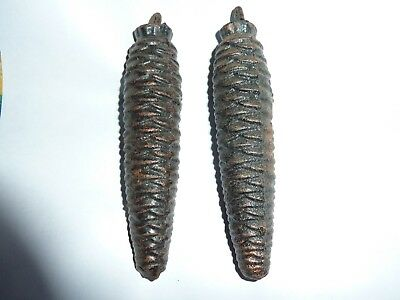 Pair of Pine Cone Cuckoo Clock weights
