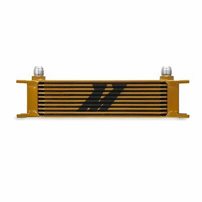 Mishimoto MMOC-10G Universal 10 Row Oil Cooler, Gold