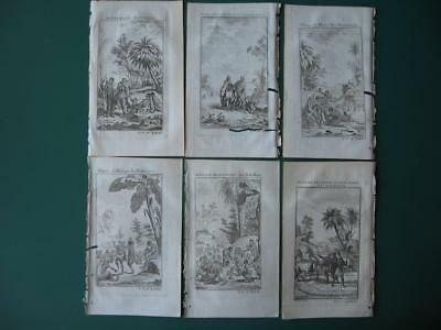 1749 - VOYAGES PREVOST - SOUTH AFRICA  6 engravings HOTTENTOTS