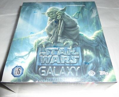 Star Wars GALAXY series 6 Hobby Box Topps Trading Cards Factory Sealed