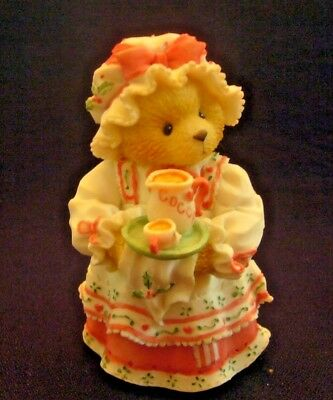 """Holly """"A Cup Of Homemade Love"""" 1995 #141119 Enesco Cherished Teddies Figurine"""