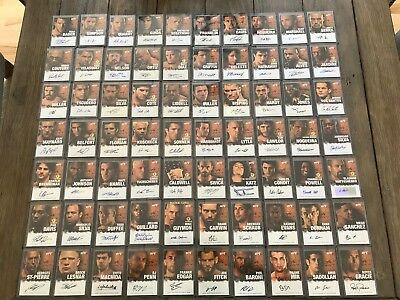 1/1 RARE COMPLETE SET OF ALL 70 2010 TOPPS UFC SERIES 4 AUTOGRAPHS Lesnar GSP