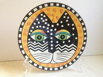 "Vintage 1998 Laurel Burch 8"" CAT FACE Plate Hendriksen"