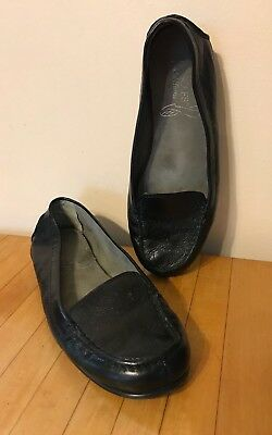 40c7d8061f8 AEROSOLES Stitch N Turn Womens Size 7M Loafers Flats Black Leather Pull-On  Shoes