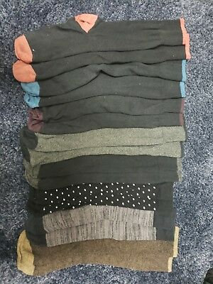 Socks men 8 pairs black and textured (pre-owned)
