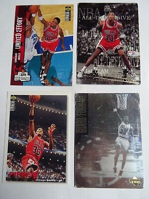 Lot de 4 cartes Basket NBA Scottie Pippen