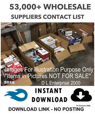 53,000+ Wholesale Suppliers List -  U.k. And International *2019* Upto 95% Off