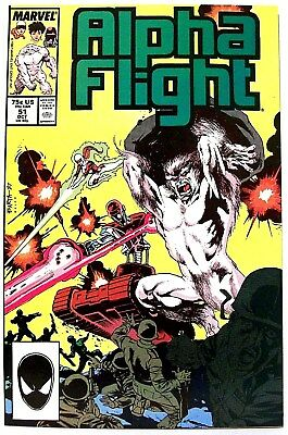 """ALPHA FLIGHT"" Issue # 51 (Oct, 1987, Marvel Comics) f. JIM LEE art"
