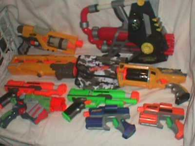 NERF Dart TOY Gun RIFLE Machine Bomb SHIELD Strike FORCE LOT GAME Backyard 30+