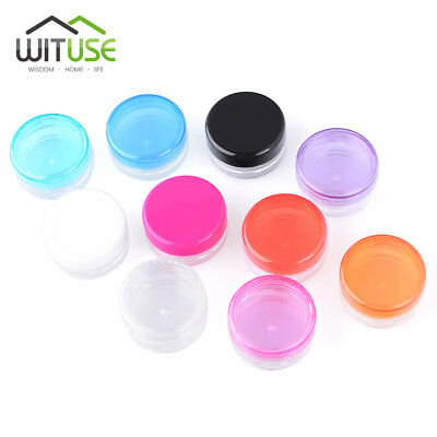 Make up Case Empty Cosmetic Jars Plastic Sample Bottle for Cream Pots Round 3/5g