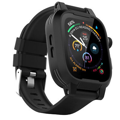 low priced 260b5 8daba FOR APPLE WATCH Waterproof Case Cover+Silicone Band Strap+Screen Protector  40/44