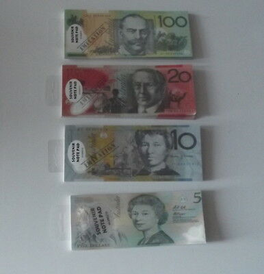 souvenir money note pad fake pretend play imitation Australian dollar
