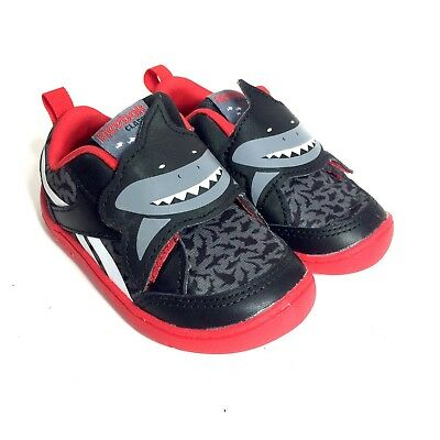 492b3237910 Reebok Black Red Toddler Boys Kids Athletic Sneakers Sport Shoes Size 5  yc