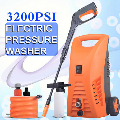 High Pressure Water Cleaner Washer Electric Pump Hose Gurney Spray 3200 PSI 8M