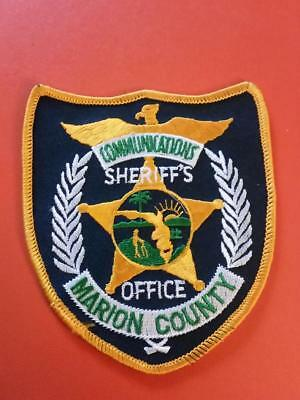 Marion county sheriff   communications sheriff  police  patch dark  background