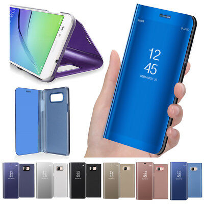 For Samsung Galaxy J4 J5 J6 J7 On5 On7 Smart Mirror View Case Stand Full Cover