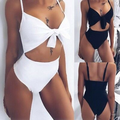 Women's High Waisted Bikini Sets Padded Swimsuit Push Up Bathing Suit Swimwear