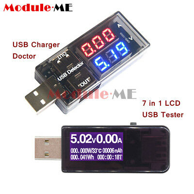 LCD USB Charger Doctor Current Voltage Detector Battery Voltmeter Ammeter Tester