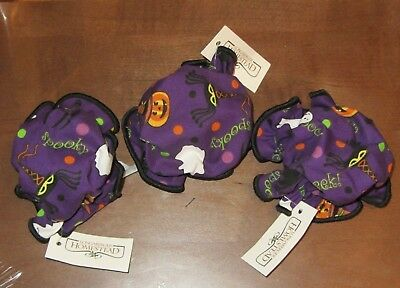 Set of 3 Longaberger Halloween Party Canning Jar Covers -NEW