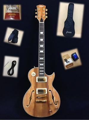 Haze Semi-Hollow Body 239GC Electric Guitar,LP Style,Spalt Maple Graphic+Gig Bag