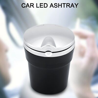 Portable Car Led Ashtray with Lid Cup Holder Travel Auto Cigarette Smoke Remove