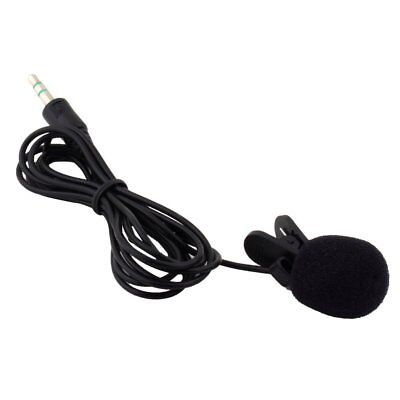 Omnidirectional Mini Mic 3.5mm Tie Clip on Lapel Lavalier Microphone Stereo