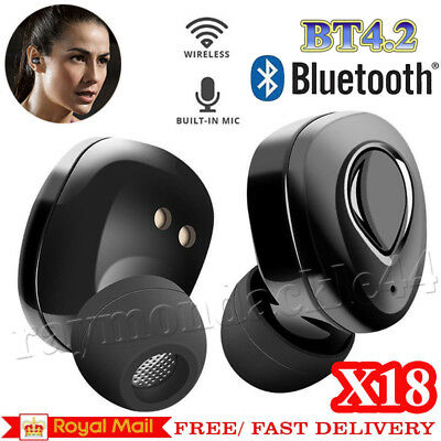 TWS Wireless In-Ear Stereo Bluetooth Earphone Earbuds Headset for iPhone Android