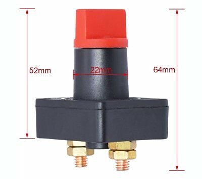 Battery Disconnect Cut Off Isolator Switch Car motorcycle Boat 24 300A