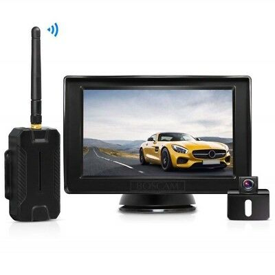 BOSCAM K1 Wireless Backup Camera and Monitor Kit, 4.3 Inches LCD Rear View Monit