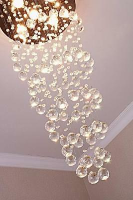 Modern Crystal Spral Raindrop Chandelier Lighting Lamp light