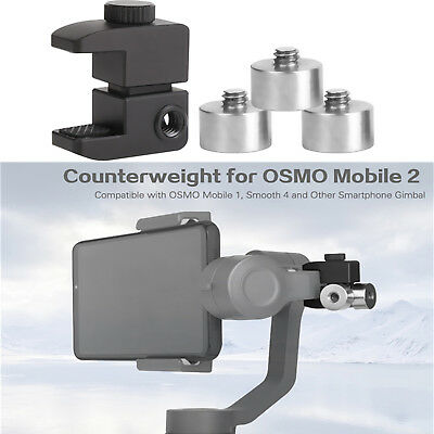 Counterweight Holder Grip + Clip For DJI Osmo Mobile 2/Zhiyun Smooth 4/Smooth Q