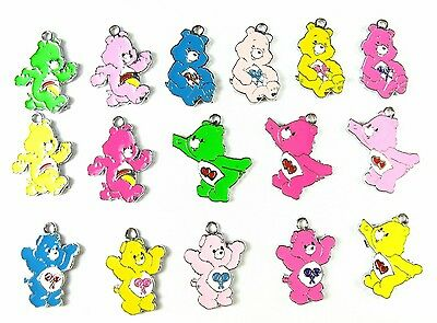 20 pcs multicolor mix care bears Metal Charms pendants Jewellery Making crafts