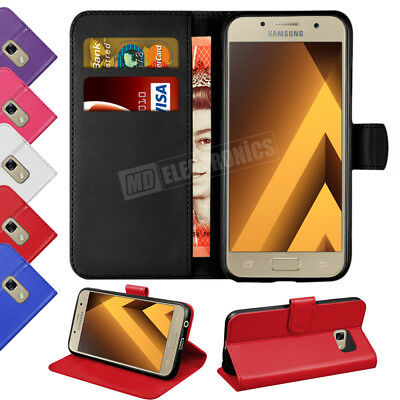 Case Cover For Samsung Galaxy Phones 2016 2017 Flip Leather Wallet Card Holder