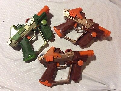 Tiger Electronics Lazer Tag Team Ops guns - Lot of 3 Tested working
