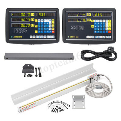 2/3 Axis DRO Digital Readout Display / 50-1000mm TTL Linear Scale Milling Lathe