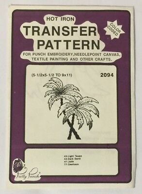 Pretty Punch Hot Iron Transfer Pattern Punch Embroidery 2094 Palm Trees