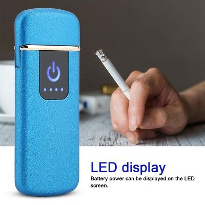 USB Electric Dual Flameless Lighter Torch Rechargeable Windproof Xmas Gift